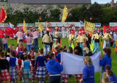 Arrival o the Queen's Baton in Peterheed - July 2014
