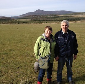 Frieda and Ian Smith on Bennachie