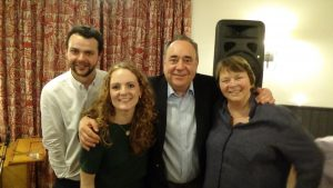 Alex with Alistair Patterson, Robyn Stapleton and Frieda Morrison - Gadies Apr2015