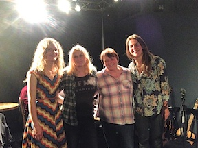 Family - Jennifer, Delane, Frieda and Carey - Concert in Elgin  and Lossie Folk Festival 2015 - with Firefly 45.