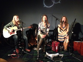In song with Delane, Jennnifer and Carey - Concert in Elgin 2015 -  with Firefly 45